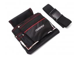 Сумка для инструментов поясная (два кармана + металлические держатели) Forsage F-02R062