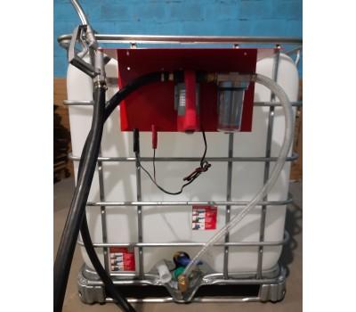 Комплект для перекачки топлива на базе еврокуба (RE SL012-1-24V)