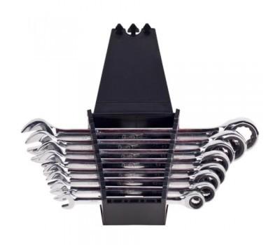 Набор ключей комбинированных трещоточных 8 предметов, 8-19мм. (НК-2081-8) ALLOID