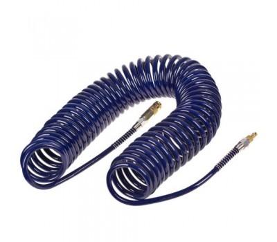 Шланг спиральный для пневмоинструмента 8мм*12мм*15м (полиуретан) (ШП-81215) ALLOID