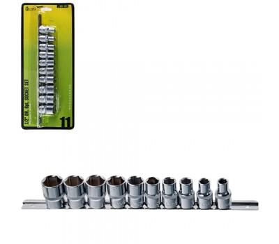 "Набор торц головок 1/2""DR 10 - 24 мм. 11 предметов блистер (НГП-4011) ALLOID"