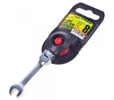 Ключ комбин трещоточный укороченный с карданом 08 мм.(КТУ-2091-08К) (КТУ-2091-08К) ALLOID