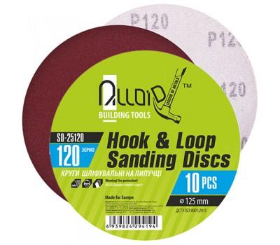 Круг шлифовальный на липучке 125 мм, зерно 120 (10шт) (SD-25120) ALLOID