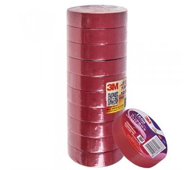 Изолента 3М 18мм*20м*0,15мм Red (3М 1600) 3М