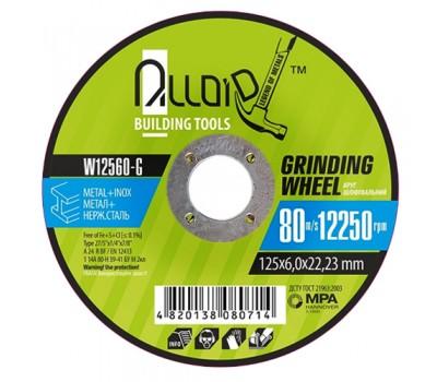 Круг шлифовальный по металлу Alloid 27 14А 125*6,0*22,23мм (W12560-G)