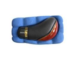 Ручка коробки передач декоративная Vitol (F 25030 MP) темное дерево/кожа
