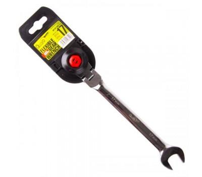 Ключ комбинированный трещоточный с карданом 15 мм.