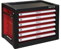 Шкаф с инструментами YATO с 6 полками, 690x465x535 мм (YT-09155)