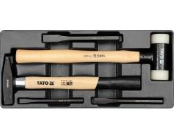 Набор инструментов в ложементе YATO молотки и зубила 3шт. (YT-5540)