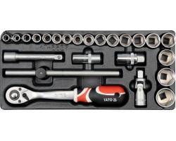 Набор инструментов в ложементе YATO насади и акссесуары (YT-5537)