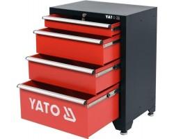 Шкаф для мастерской 660x457x863 мм YATO, 4 полки (YT-08933)