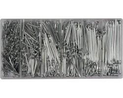 Набор прямых шплинтов разных розмеров YATO, 1000 шт. (YT-06885)