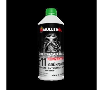 Жидкость охлаждающая MÜLLER АС концентрат G11 зеленый 1,5л.