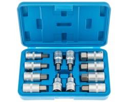 "Набор ключей HEX коротких с насадками 1/2"" (L=55 мм) -12 предметов SATRA S-SH1212"