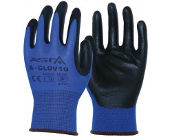 Масло-бензо стойкие перчатки 9разм. (нейлон) 12пар, уп. ASTA A-GLOV9 (12x)
