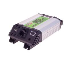 Преобраз. напряжения PULSO/IMU 500/12V-220V/500W/USB-5VDC0.5A/мод.волна/клеммы