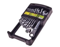 Набор ключей комбинированных. трещоточных с карданом. 11 предметов.8-19 мм.