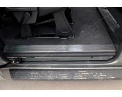Накладки на внутренние пороги Ford Transit Custom (2012-) 4шт OMSALINE (2624092)