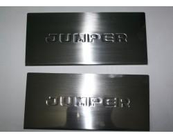 Накладки на внутренние пороги Citroen Jumper -2006 2шт Carmos (6454586)