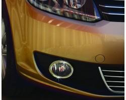 Накладки на противотуманки Fiat Doblo 2005-/Caddy 2010-2015 2шт Carmos (6454492)