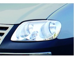 Накладка на передние фары VW Caddy 2004-2010 2шт Carmos (6454494)
