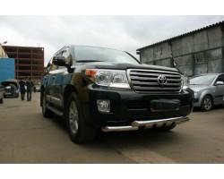 Защита переднего бампера (кенгурятник) Toyota Land Cruiser 200 (2007-2012) /ус двойной SHARK Can Otomotiv (TOC2.33.3380)