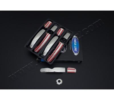 Хром ручки 5шт Ford Transit (2014-) OMSALINE (2626042)