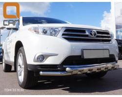 Защита переднего бампера (кенгурятник) Toyota Highlander (2008-2014) /ус двойной SHARK Can Otomotiv (ТОHI.33.0030)