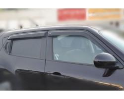 Дефлектора окон (ветровики) Fiat Doblo 2d (263) 2015- Cobra Tuning (F22715)