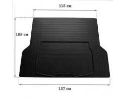Коврик в багажник универсальный UNI BOOT L (137см Х 109см) 3023011 STINGRAY