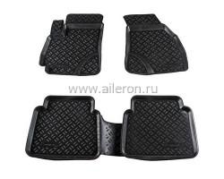 Ковры в салон авто Hyundai I40 2011-2014 черные 5 шт. Aileron (ALR 60635)