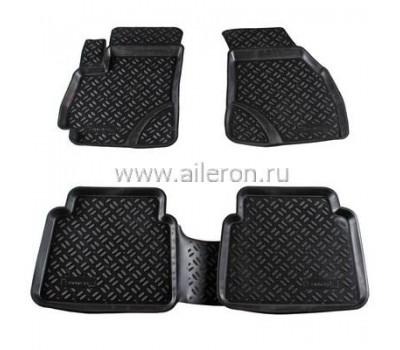 Ковры в салон авто Honda Civic 2011-2015 черные 5 шт. Aileron (ALR 60711)