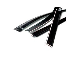 Дефлекторы окон (ветровики) Daewoo Tico 1991-2004 темные 4 шт. Autoclover (A015)