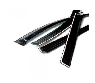 Дефлекторы окон (ветровики) Kia Sorento 2009- темные 4 шт. Autoclover (AC A109)