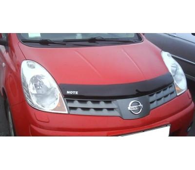 Дефлектор капота (мухобойка) Nissan Note 2008- темный EGR (SG3467DS)