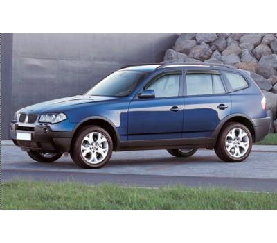Дефлекторы окон (ветровики) BMW X3 2004-2011 дымчатые 4 шт. EGR (91410003B)