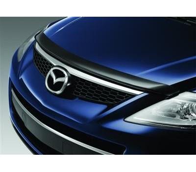 Дефлектор капота (мухобойка) Mazda CX-9 2008-2012 темный с логотипом EGR (023051L)