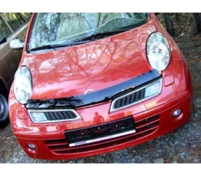 Дефлектор капота (мухобойка) Nissan Micra 2003-2009 темный EGR (SG3444DS)