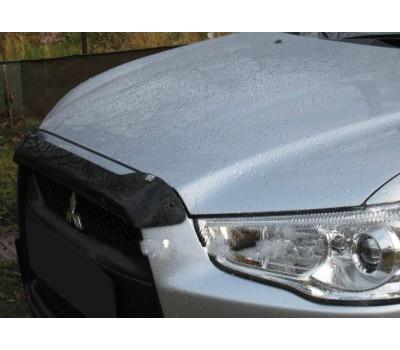 Дефлектор капота (мухобойка) Mitsubishi ASX 2010-2012 темный EGR (26221)