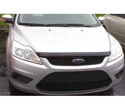 Дефлектор капота (мухобойка) Ford Focus 2008-2010 темный с логотипом EGR (SG4935DSL)