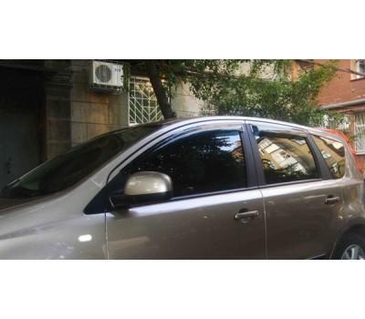 Дефлекторы окон (ветровики) Nissan Note 2006- темные 4 шт. EGR (92463034B)
