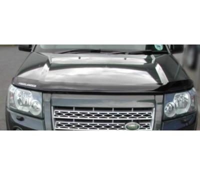 Дефлектор капота (мухобойка) Land Rover Freelander 2007- темный с логотипом EGR (021091L)