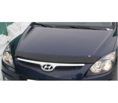 Дефлектор капота (мухобойка) Hyundai I30 2007-2011 темный с логотипом EGR (SG3533DS)