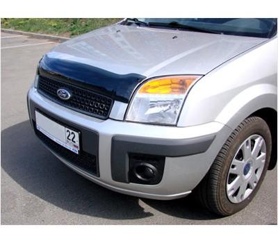 Дефлектор капота (мухобойка) Ford Fusion 2002-2012 темный с логотипом EGR (BRE4929DS)