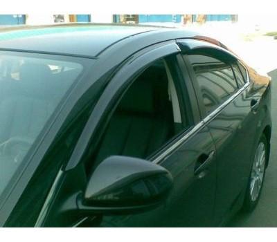Дефлекторы окон (ветровики) Mazda 6 2008-2012 темные 4 шт. EGR (92450025B)