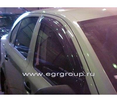 Дефлекторы окон (ветровики) Skoda Octavia 2004-2012 темные 4 шт. EGR (92481003B)
