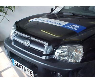 Дефлектор капота (мухобойка) Hyundai Santa Fe 2001-2005 темный EGR (14011)