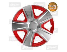 """Колпак колесный ELEGANT 13"""" ESPRIT silver&red"""