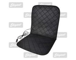 Накидка на сиденье Elegant с подогревом черная 12V 35W размер:84*43см EL 100 579