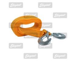 Трос буксировочный 3т 4м желтый 47мм с крюками PLUS 101 810 Elegant